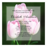 Pink Tulips 80th Birthday Party Personalized Announcements