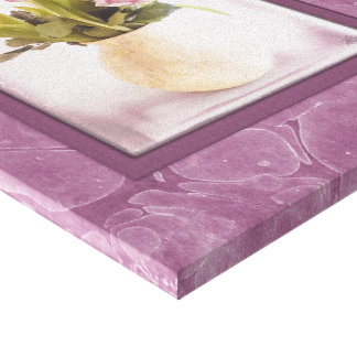 Pink Tulips and Roses on Canvas
