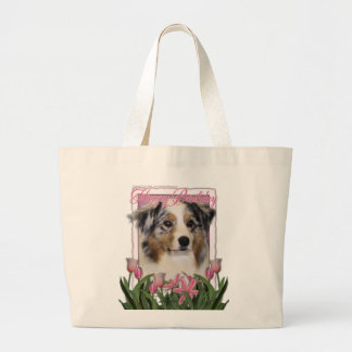 Pink Tulips - Australian Shepherd Canvas Bags