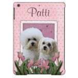 Pink Tulips - Bichon and Maltese