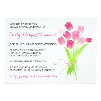Pink Tulips - Bridal Shower Invitation