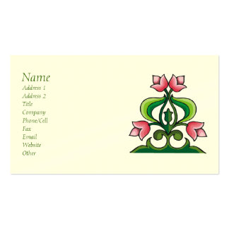 Pink Tulips Celtic Art Biz Card Double-Sided Standard Business Cards (Pack Of 100)