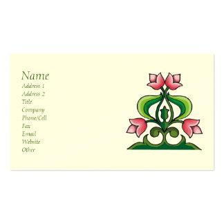 Pink Tulips Celtic Art Biz Card Pack Of Standard Business Cards