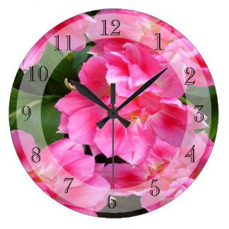 Pink Tulips    ~  Clock