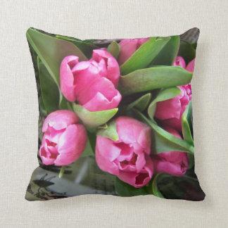 Pink Tulips Cushion
