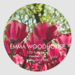 Pink Tulips DSC0848 Round Sticker