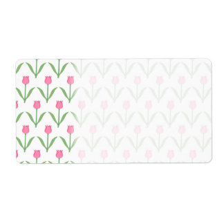 Pink Tulips Floral Pattern
