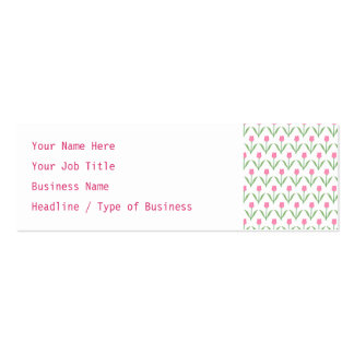Pink Tulips Floral Pattern Business Card Templates