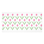 Pink Tulips Floral Pattern Photo Card