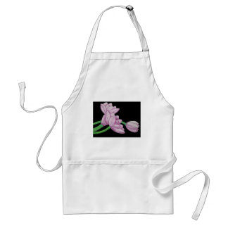 Pink tulips flowers original art graphic design standard apron