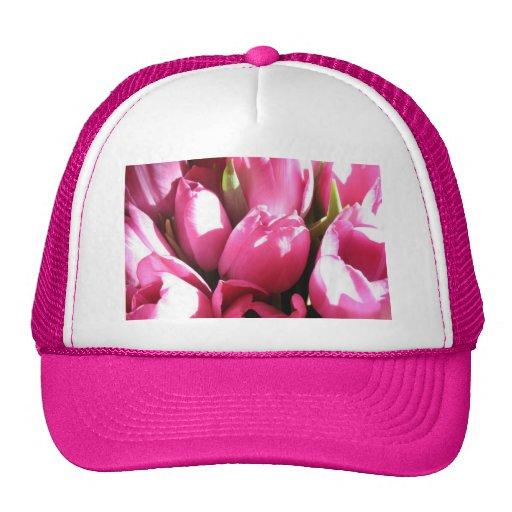 Pink Tulips Mesh Hat