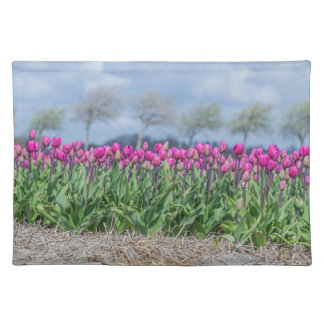 Pink tulips in the wind placemat