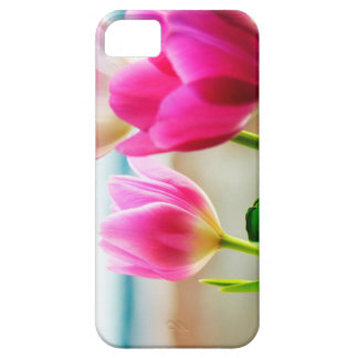 Pink Tulips iPhone SE + iPhone 5/5S, Barely There Case For The iPhone 5