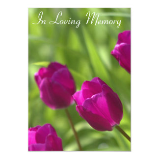 Pink Tulips Memorial Service Announcement