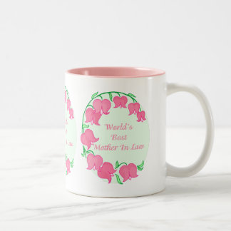 Pink Tulips Mother in Law Two-Tone Coffee Mug