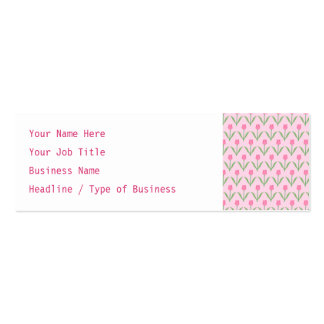 Pink Tulips Pattern. Pretty Floral Design. Business Cards