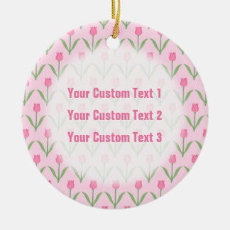 Pink Tulips Pattern. Pretty Floral Design. Ornaments