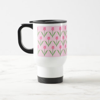Pink Tulips Pattern. Pretty Floral Design. Coffee Mug