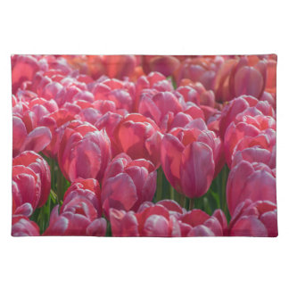 Pink tulips placemat