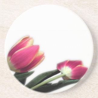 Pink Tulips Round Coaster