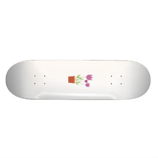 Pink tulips skate boards