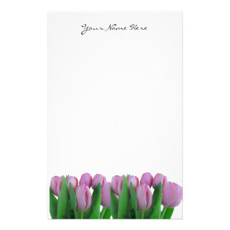 Pink Tulips Stationery