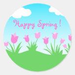 Pink tulips - Sticker