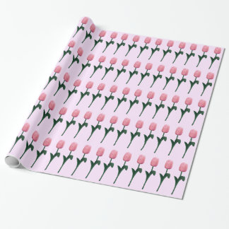 Pink Tulips Wrapping Paper