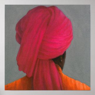 Pink Turban Poster