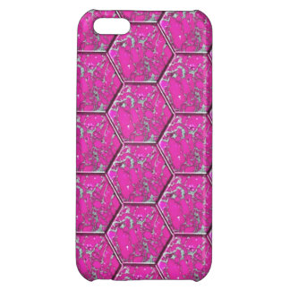 Pink Turquoise Hexagon Tiles Cover For iPhone 5C