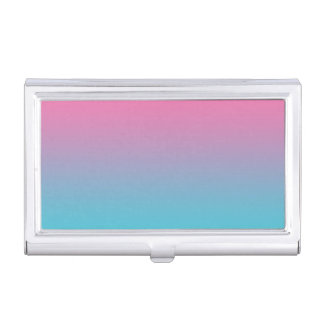 Pink & Turquoise Ombre Business Card Cases
