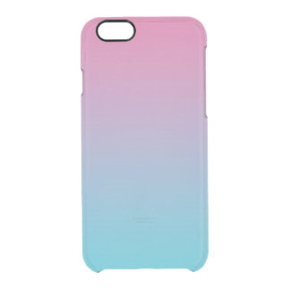 Pink & Turquoise Ombre Clear iPhone 6/6S Case