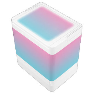 Pink & Turquoise Ombre Igloo Cooler