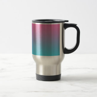 Pink & Turquoise Ombre 15 Oz Stainless Steel Travel Mug