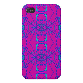 pink turquoise pern covers for iPhone 4