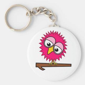 Pink Tweet Basic Round Button Key Ring