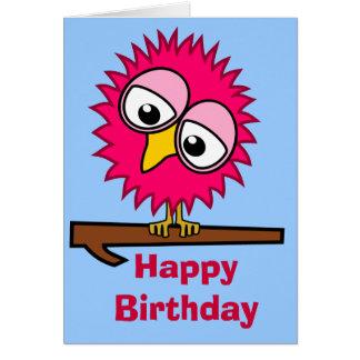 Pink Tweet Birthday Card