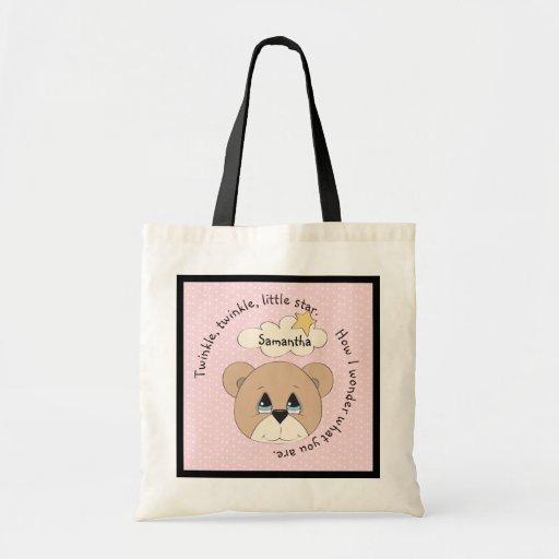 Pink Twinkle Star Nursery Rhyme Bag
