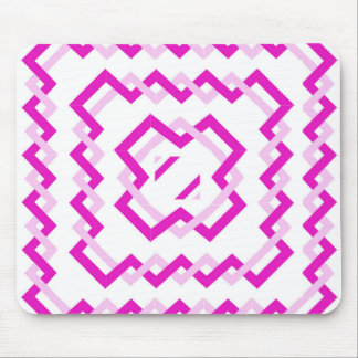 Pink Twisted Ribbons Mouse Pad