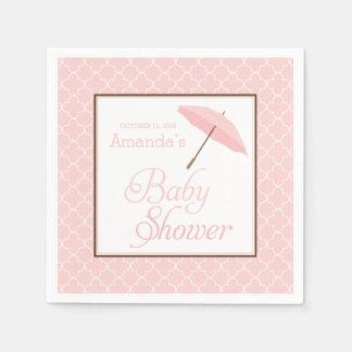 Pink Umbrella Baby Shower napkins Disposable Napkin