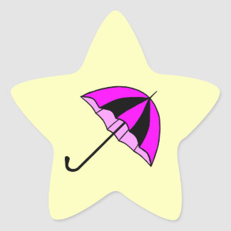 Pink,Umbrella,Children,Custom Star Stickers