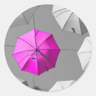 Pink Umbrella Stickers