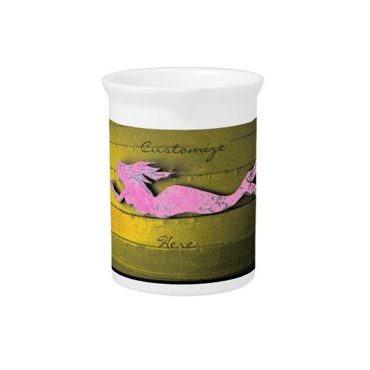 pink underwater mermaid pitchers