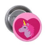 Pink Unicorn 6 Cm Round Badge