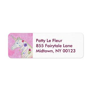 Pink Unicorn address label