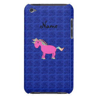 Pink unicorn blue roses barely there iPod case