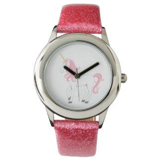 Pink Unicorn Glitter watch