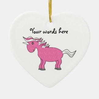Pink unicorn ornament