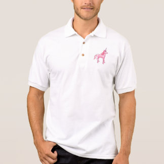 Pink Unicorn Polo Shirt