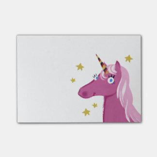 Pink Unicorn Post-it notes